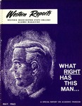 Western Reports, May, 1963, Volume 12, Issue 02