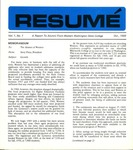 Résumé, October, 1969, Volume 01, Issue 01