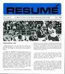 Résumé, November, 1969, Volume 01, Issue 02