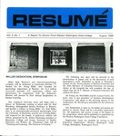 Résumé, August, 1969, Volume 02, Issue 01