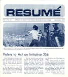 Résumé, September, 1970, Volume 01, Issue 12