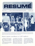 Résumé, January, 1972, Volume 03, Issue 04 by Alumni Association, WWSC