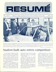 Résumé, June, 1972, Volume 03, Issue 09