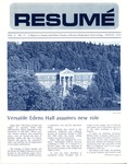 Résumé, August, 1972, Volume 03, Issue 11 by Alumni Association, WWSC