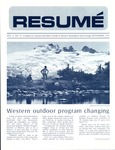 Résumé, September, 1972, Volume 03, Issue 12 by Alumni Association, WWSC