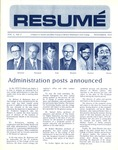 Résumé, November, 1972, Volume 04, Issue 02 by Alumni Association, WWSC