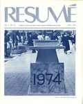 Résumé, July, 1974, Volume 05, Issue 10