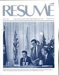 Résumé, October, 1974, Volume 06, Issue 01 by Alumni Association, WWSC