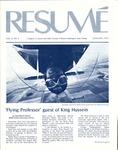 Résumé, January, 1975, Volume 06, Issue 04 by Alumni Association, WWSC
