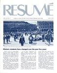 Résumé, May, 1975, Volume 06, Issue 08 by Alumni Association, WWSC