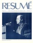 Résumé, December, 1975, Volume 07, Issue 03 by Alumni Association, WWSC