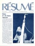 Résumé, July, 1976, Volume 07, Issue 10 by Alumni Association, WWSC