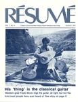 Résumé, August, 1976, Volume 07, Issue 11 by Alumni Association, WWSC