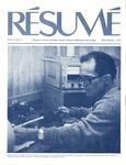 Résumé, November, 1976, Volume 08, Issue 02 by Alumni Association, WWSC