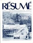 Résumé, September, 1977, Volume 08, Issue 12 by Alumni Association, WWU