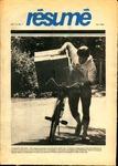 Résumé, Fall, 1982, Volume 14, Issue 01