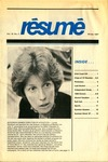 Résumé, Winter, 1987, Volume 18, Issue 02