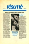 Résumé, Winter, 1989, Volume 20, Issue 02