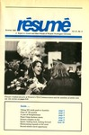 Résumé, Summer, 1990, Volume 21, Issue 03