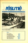 Résumé, Fall, 1990, Volume 22, Issue 01