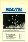 Résumé, Winter, 1991, Volume 22, Issue 02