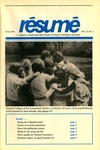 Résumé, Spring, 1991, Volume 22, Issue 03