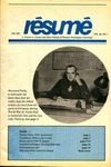 Résumé, Fall, 1991, Volume 23, Issue 01