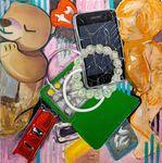 "Cherubic Restraint - Oil on panel, 48"" x 48"", 2020 by Ellie Bacchus"