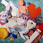 "Grieving Springtime - Oil on panel, 48"" x 48"", 2020 by Ellie Bacchus"