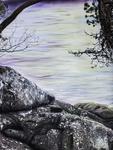 "Looking Thru a Screen IV: Detail Image 2 - Airbrush Acrylic Ink on Inkjet Photograph, 48"" x 64"", 2020 by Joel Aparicio"