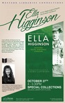 Poster: HRSS- Laffrado, Selected Writings of Ella Higginson