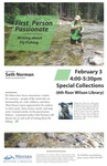 Poster: HRSS - Norman, First Person Passionate: Writing about Fly Fishing