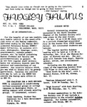 Huxley Humus, 1974, Volume 04, Issue 01