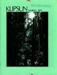 Klipsun Magazine, 1975, Volume 05, Issue 03 - March