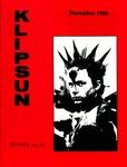 Klipsun Magazine, 1986, Volume 18, Issue 01 - November
