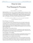 How to Use The Research Process