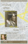 Poster: Poetry after Auschwitz: Who was Else Dormitzer? - Alfers by Simon Bakke